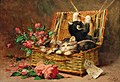 Léon Huber - A Basket of Cats.jpg