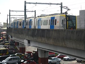 Public transport in Metro Manila - A third generation LRT-1 train heading to EDSA Station