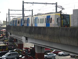 Public transport in Metro Manila - A third generation Line 1 train heading to EDSA Station