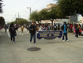 La Marque High School - La Marque High School students at the 2013 Martin Luther King Day Parade in Midtown Houston