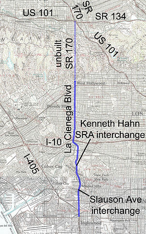 La Cienega Boulevard - Image: La Cienega map
