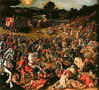 Battle of Río Salado - Canvas of the battle by unknown 17th century author