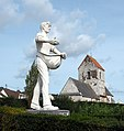 La statue du Semeur et l'église de Clerques - panoramio.jpg