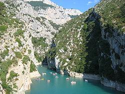 Gorges du verdon wikipedia for Camping proche des gorges du verdon avec piscine