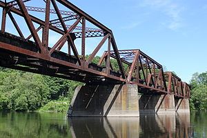 Lackawanna Old Road - Old Road bridge (built 1902) spanning the Delaware River, Delaware, New Jersey