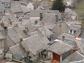 The slate rooftops in Laguiole