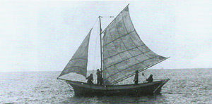 Izhorians - Laiba, an Izhorian vessel, in the Gulf of Finland.