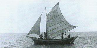 Izhorians - Laiba, an Izhorian vessel, in the Gulf of Finland.