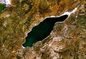 Lake Burdur - from space