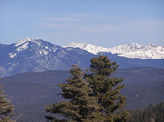Carson National Forest - Sangre de Cristo Mountains in Carson National Forest