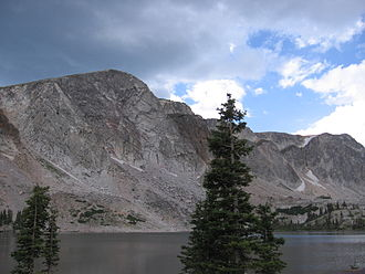 Laramie, Wyoming - The Medicine Bow (Snowy Range) Mountains are popular with Laramie's outdoor enthusiasts.