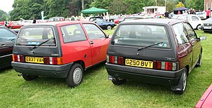 Autobianchi Y10 - Rear end of Y10 with black tailgate