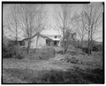Landscape, view north; farmhoused and meat shed - Trump-Lilly Farm, Hinton, Summers County, WV HABS WVA,45-HINT.V,1-49.tif