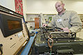 Larry Loe, a precision measurement equipment laboratory physical dimensions technician with the 92nd Maintenance Squadron, calibrates a test set at Fairchild Air Force Base, Wash., Nov. 5, 2013 131105-F-JF989-003.jpg