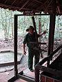 Lascar Door trap demostration - Cu Chi tunnels (4607402333).jpg