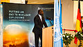 Lassina Zerbo, CTBTO Executive Secretary, giving a speech at the opening of the exhibition (11069655075).jpg