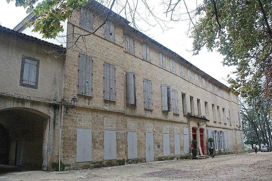 Lavérune (Hérault) - château des évêques - façade sur le parc.