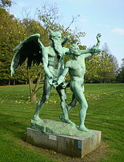Time's mortal aspect is personified in this bronze statue by Charles van der Stappen