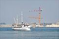 Le projet MOSE en construction dans la passe du Lido (lagune de Venise) (8108803593).jpg