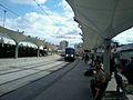 Le train bleu arrive à casaport.jpg