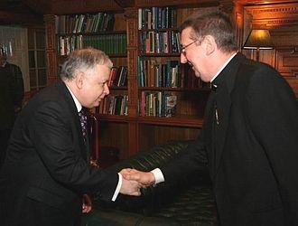 Diarmuid Martin - Archbishop Martin meeting Polish President Lech Kaczyński.