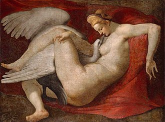 Leda (mythology) - Leda and the Swan, 16th-century copy after the lost painting by Michelangelo