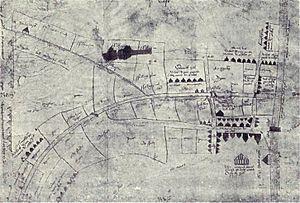 History of Leeds - A 1560 map of Leeds