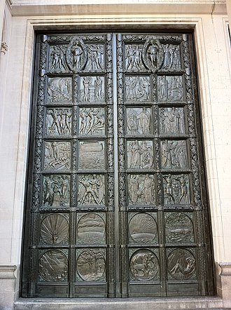 Henry Wilson (architect) - Bronze door at the Cathedral of Saint John the Divine, New York