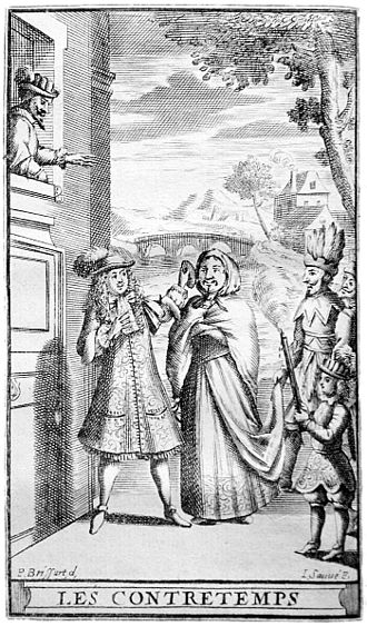 Molière - Illustration after Pierre Brissart for the printed text of 'L'Étourdi, ou le Contretemps