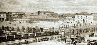 Parc de la Villette - The abattoir at La Villette at its opening in 1867.