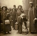 Lesley Lawless, Constance Lytton and others waiting to be sentenced, 1912. (22274843823).jpg