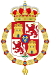 Lesser Royal Coat of Arms of Spain (1700-1868 and 1834-1930) Golden Fleece Variant.svg