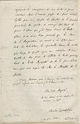 Lettre de Charles Baudelaire à l'impératrice Eugénie 2 - Archives Nationales - AE-II-1980.JPG
