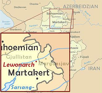 2008 Mardakert skirmishes - NKR, Mardakert, and the line of contact