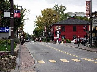Wendake, Quebec - Image: Lieu historique national du Canada de l'Arrondissement Historique du Vieux Wendake