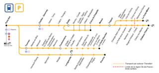 Transilien Line P railway line