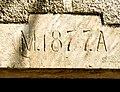 Linteau, daté de 1877. Courchaton.jpg