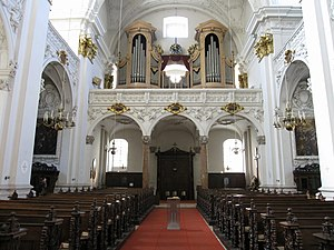 Ave Maria (Bruckner) - The organ loft in the old Linz Cathedral