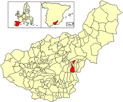 Location of Aldeire