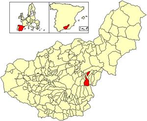Aldeire - Image: Location Aldeire