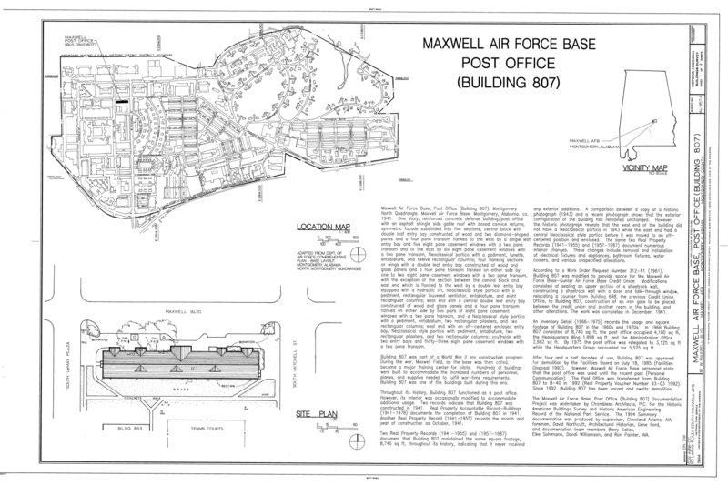 file location map and site plan maxwell air force base
