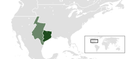 Location of Texas