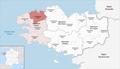 Locator map of Arrondissement Morlaix 2019.png