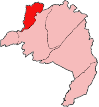 Foya District - Location of Foya District in Lofa County