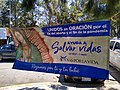 Lona en favor de la vida afuera del Hospital IMSS Tlaxcala 01.jpg
