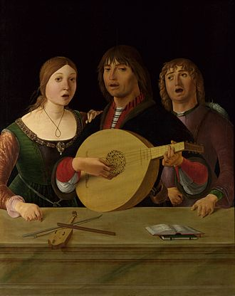 Singing - Ercole de' Roberti: Concert, c. 1490