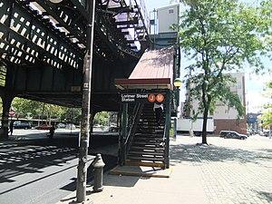Lorimer Street (BMT Jamaica Line) - Southwestern stair