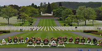 Lorraine American Cemetery and Memorial - Lorraine American Military Cemetery, Memorial Day 2010, ceremonial wreaths