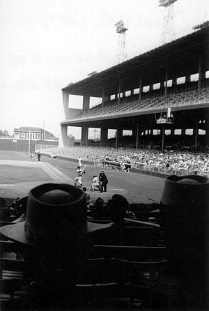 Wrigley Field (Los Angeles) - The PCL Angels at Wrigley Field, 1952.