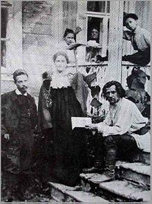 Rilke (a sinistra) durante il viaggio in Russia del 1900